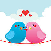 Love Birds Clipart Free.