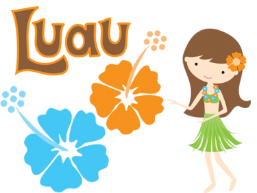Luau sign clipart.