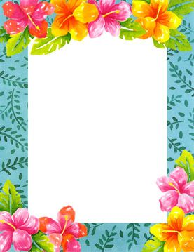blank luau invitation borders.
