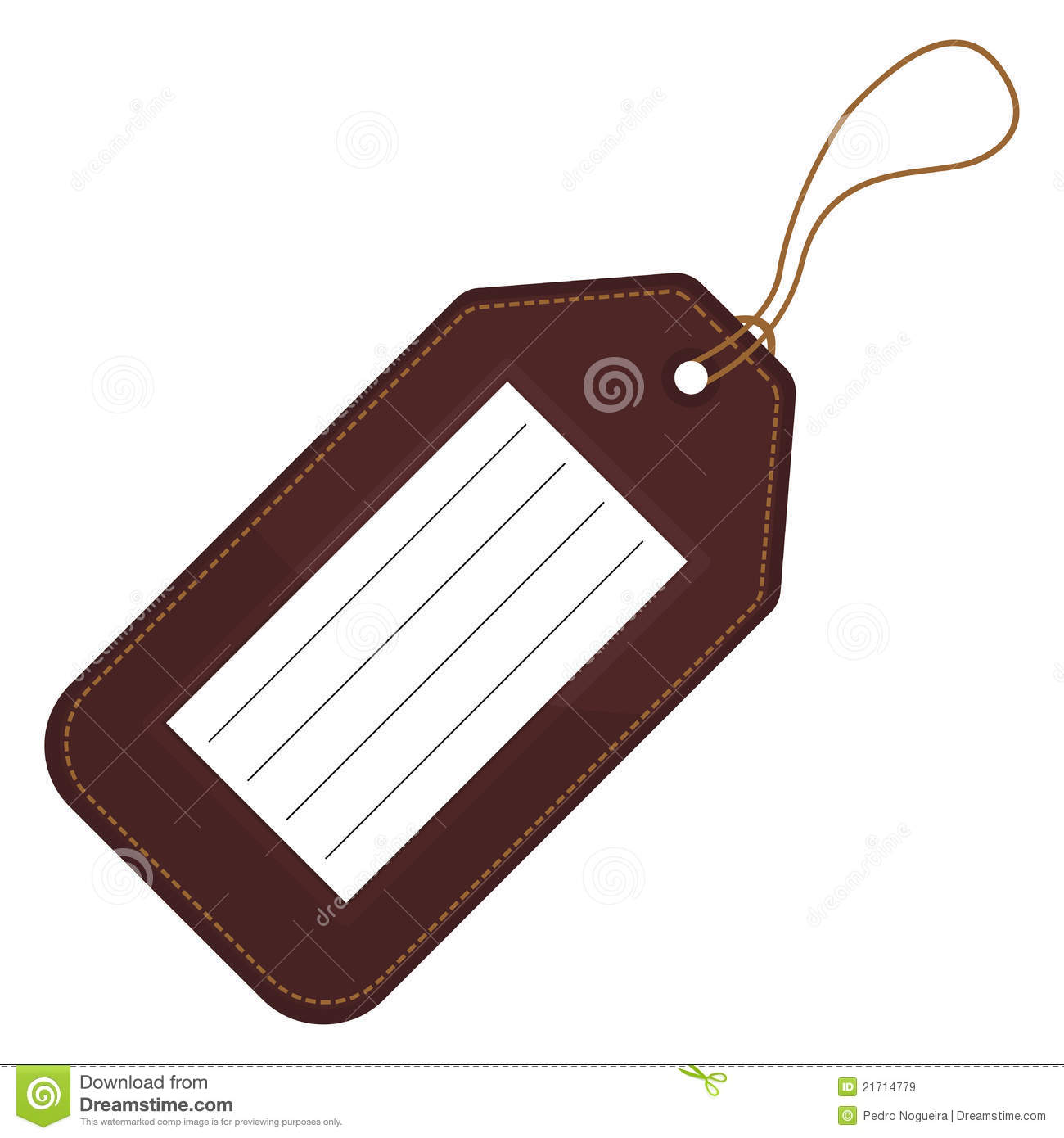 Luggage tag clipart 1 » Clipart Station.
