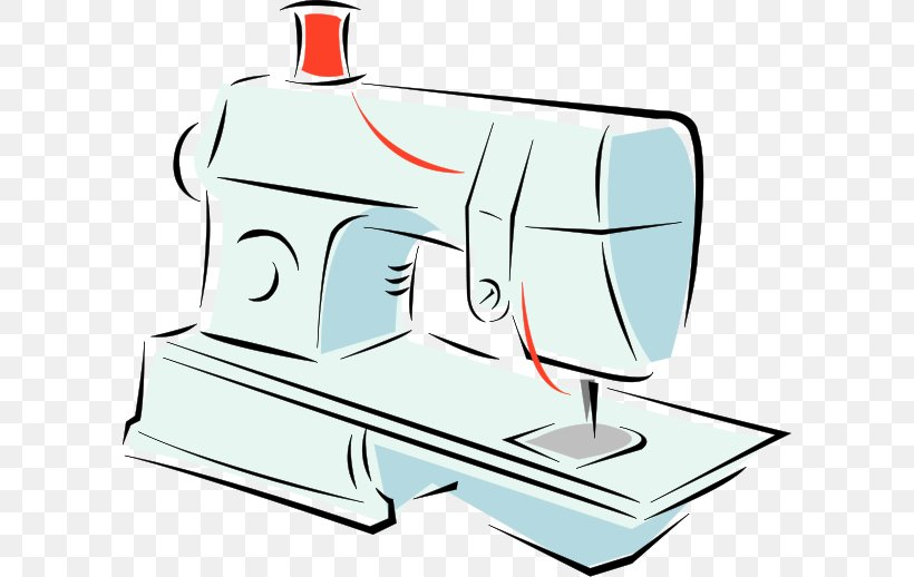 Sewing Machines Machine Embroidery Clip Art, PNG, 600x518px.