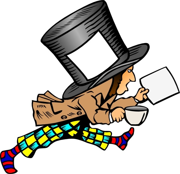 Mad Hatter clip art Free vector in Open office drawing svg.