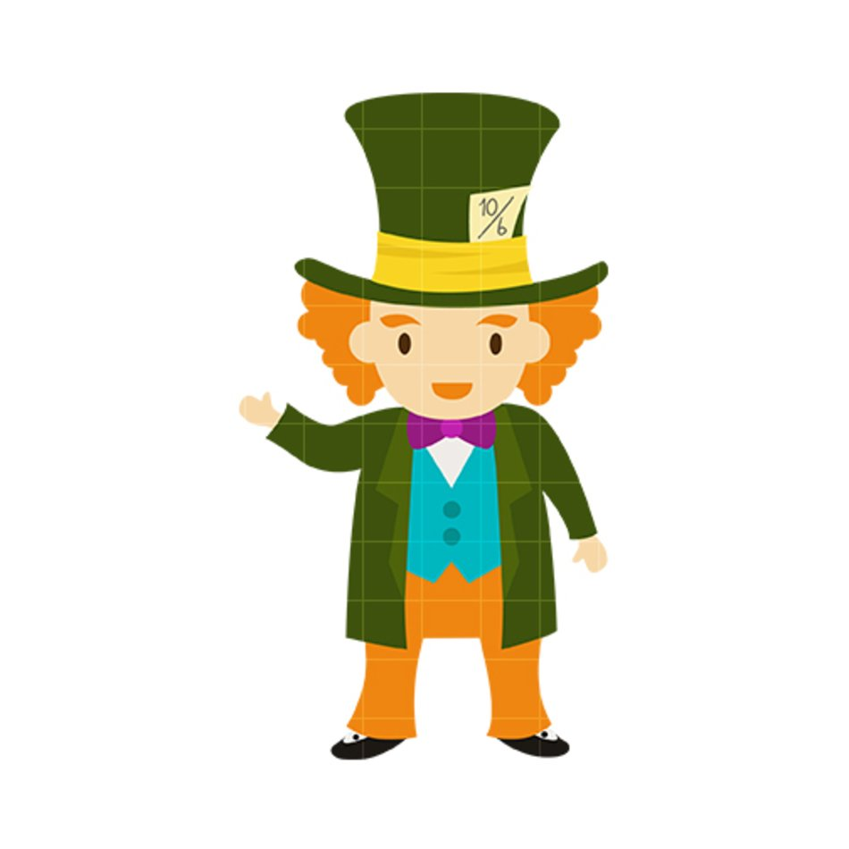 Mad Hatter Clip Art free image.