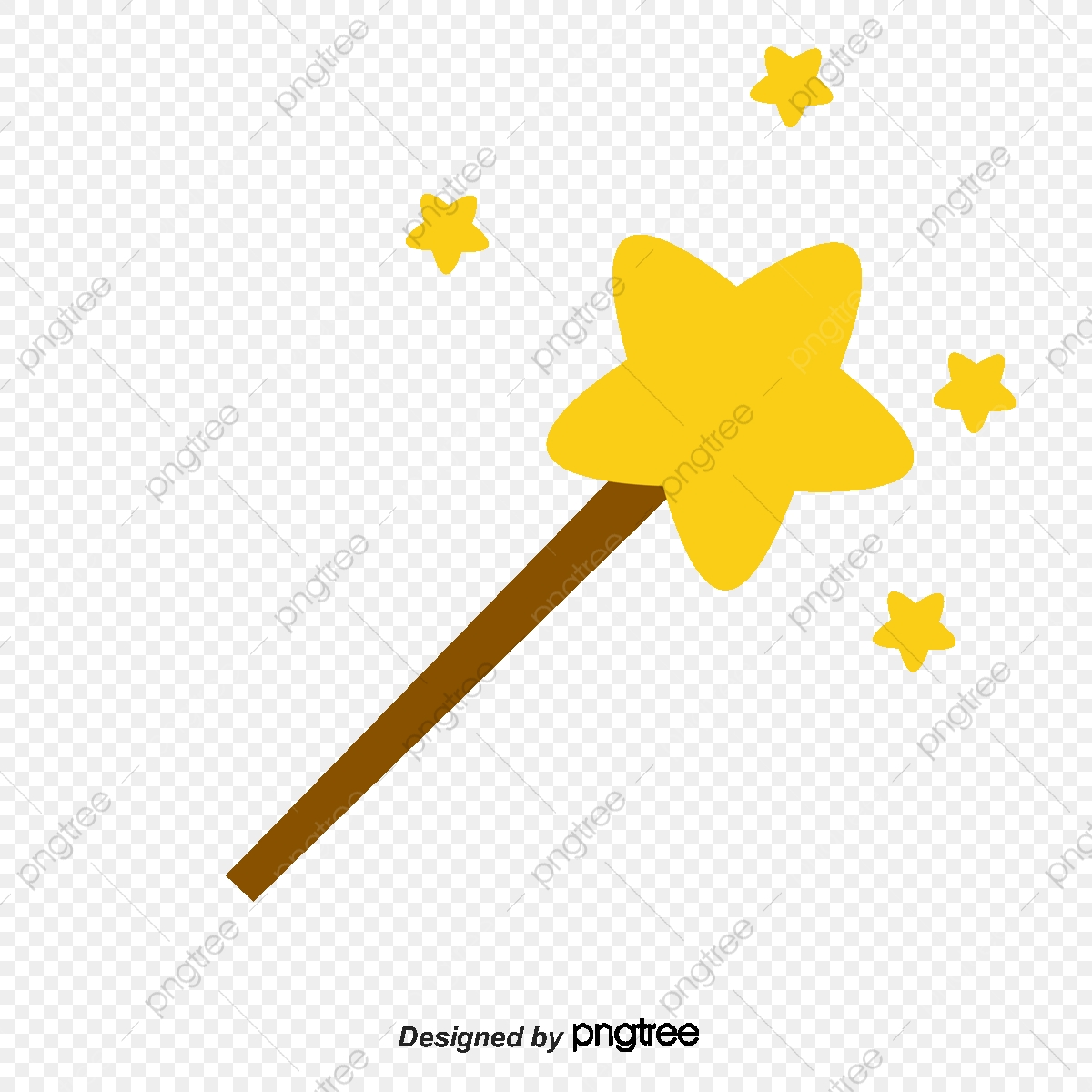 Magic Wand, Cartoon, Star PNG Transparent Clipart Image and PSD File.