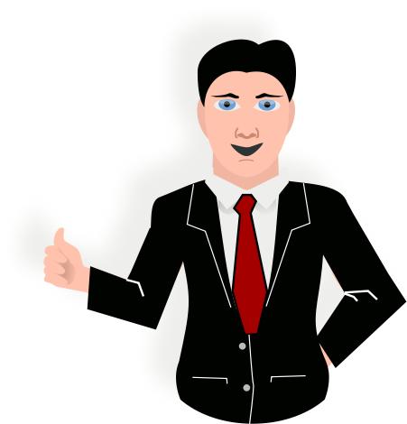 Man Presentation Clipart.