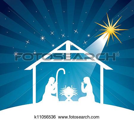 Clipart of nativity scene,vector k8031761.