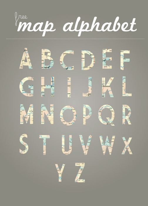 Free map alphabet png files.