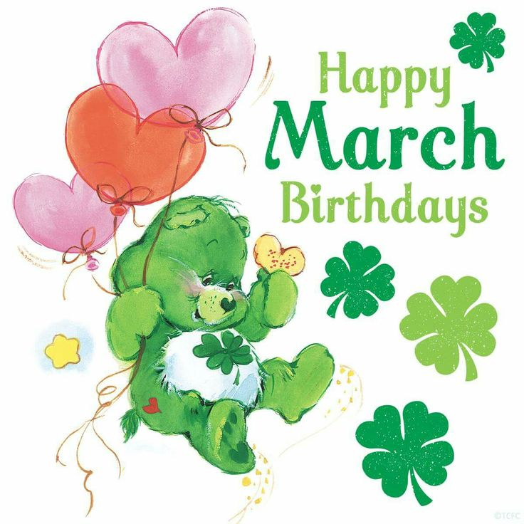 March Birthday Clipart.