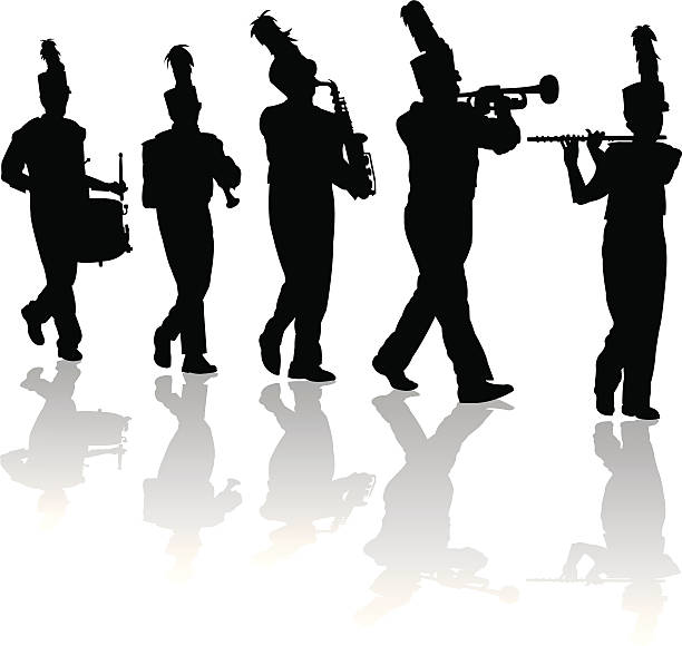 627 Marching Band free clipart.