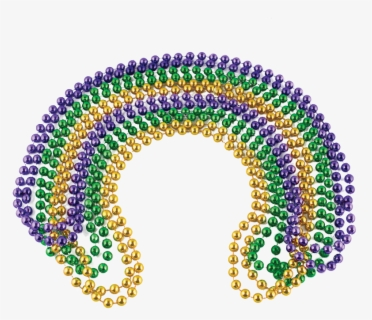 Free Mardi Gras Beads Clip Art with No Background.