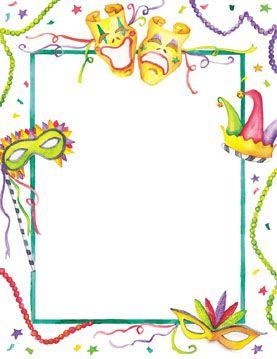 mardi gras border template.