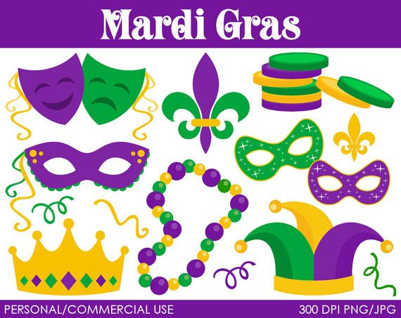 Mardi Gras Clipart Digital Clip Art Graphics for by.