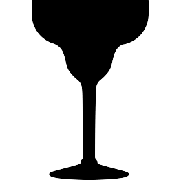 FREE SVG Margarita Glass Silhouette.