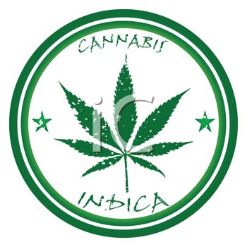 Royalty Free Clip Art Image: Marijuana Leaf Design.