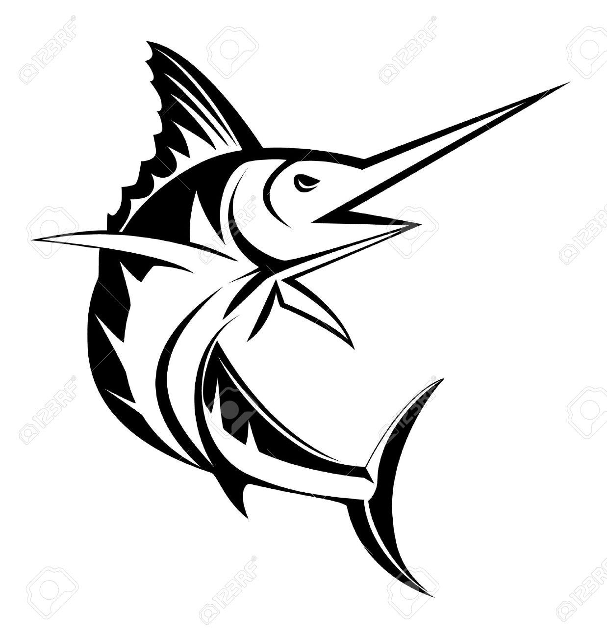158 Marlin free clipart.