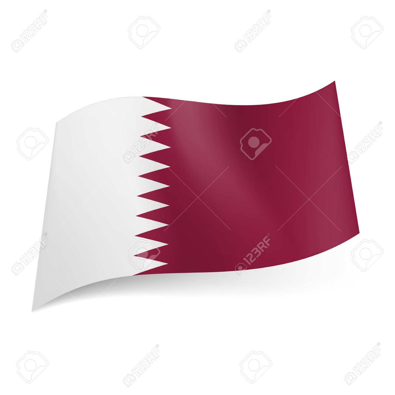 Free maroon tribe flag clipart.
