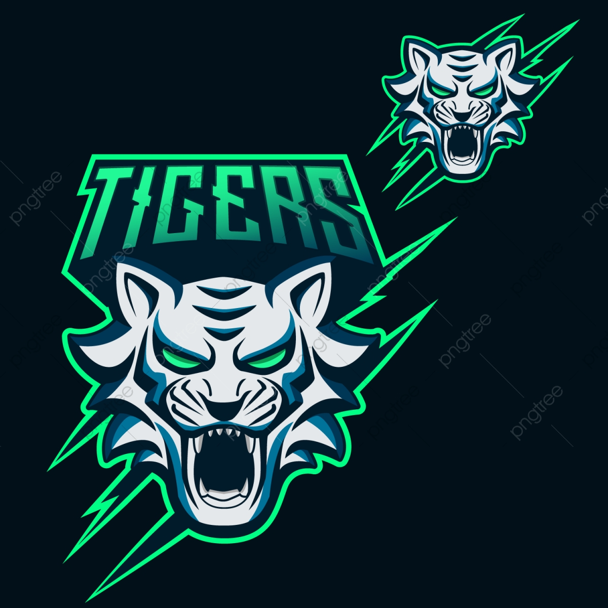 Tigers Esports Logo For Mascotand Twitch, Mascot, Logo, Team PNG and.