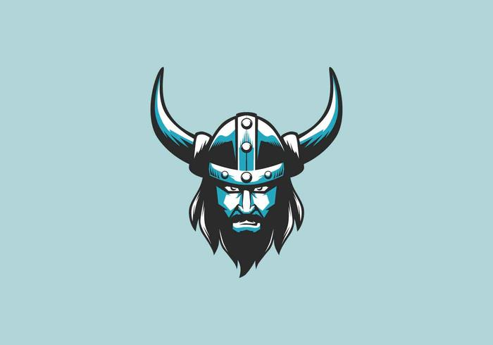 Viking Mascot Logo Vector Illustration.