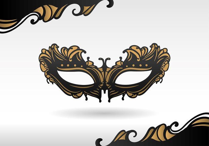 Masquerade Black Mask Vector.