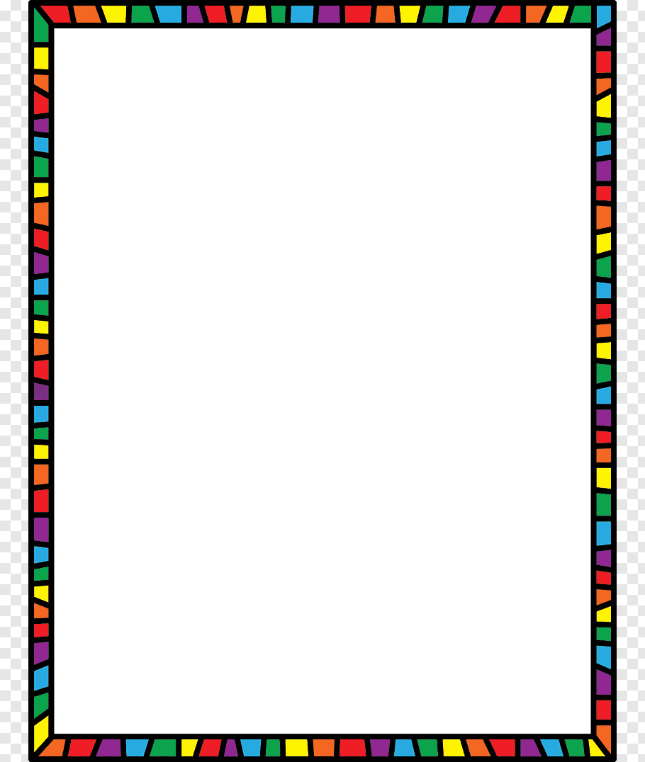 Multicolored frame border, Mathematics Number, Math s.