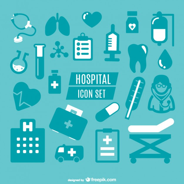 Medical Simple Icons Graphics Free Vector.