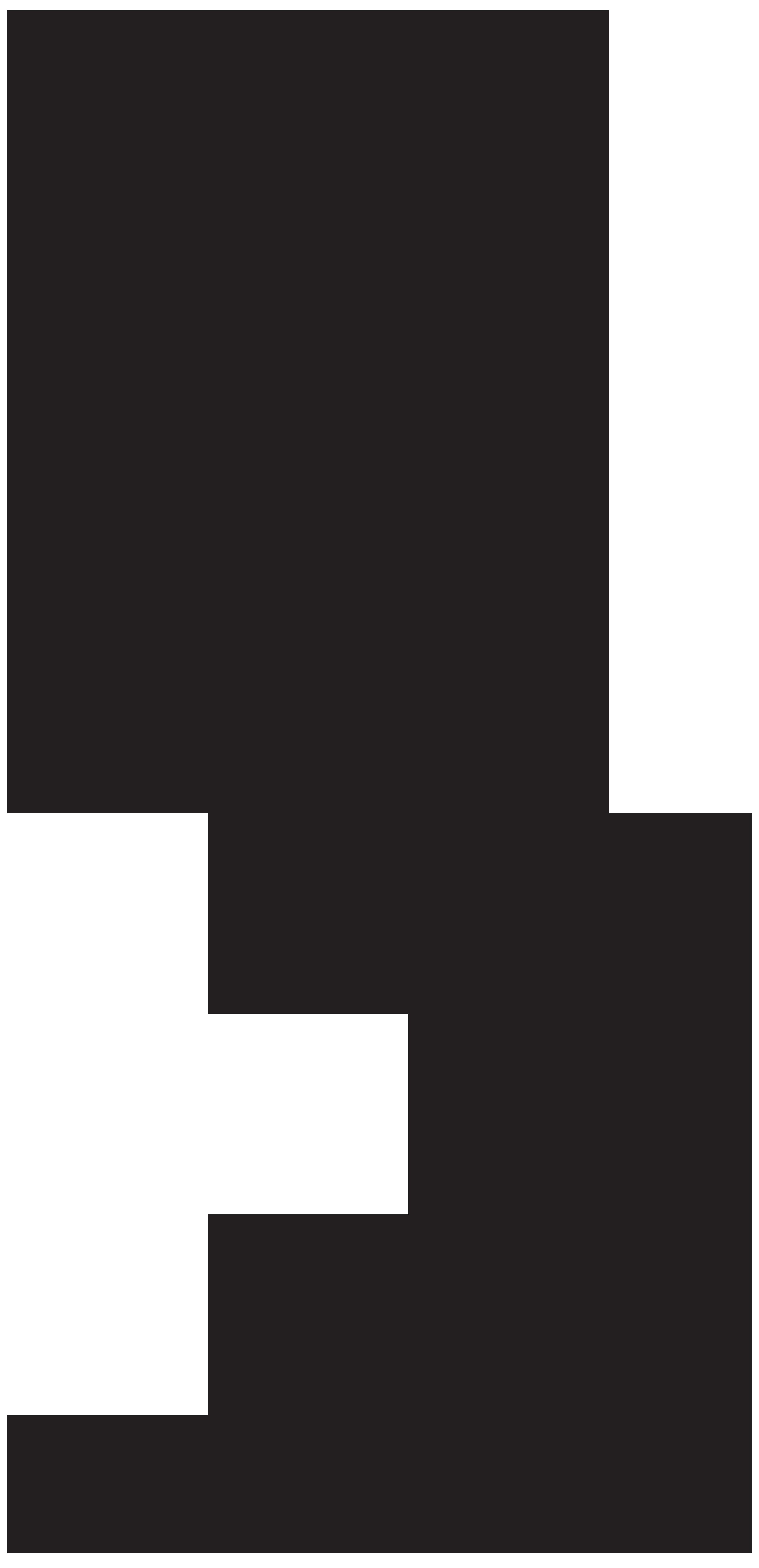 Mermaid Silhouette PNG Clip Art Image.