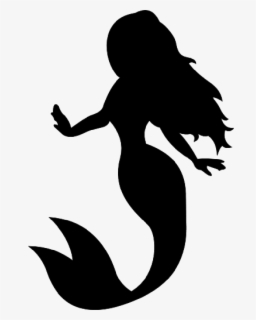 Free Mermaid Silhouette Clip Art with No Background.