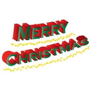 Merry Christmas Banner Clipart.