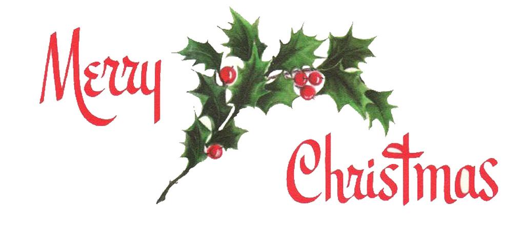 Free Vintage Merry Christmas Clip Art.