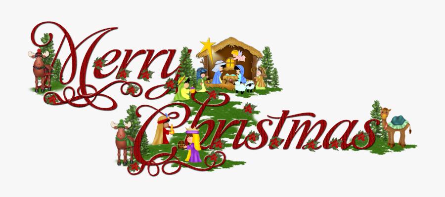 Merry Christmas Word Art Png.