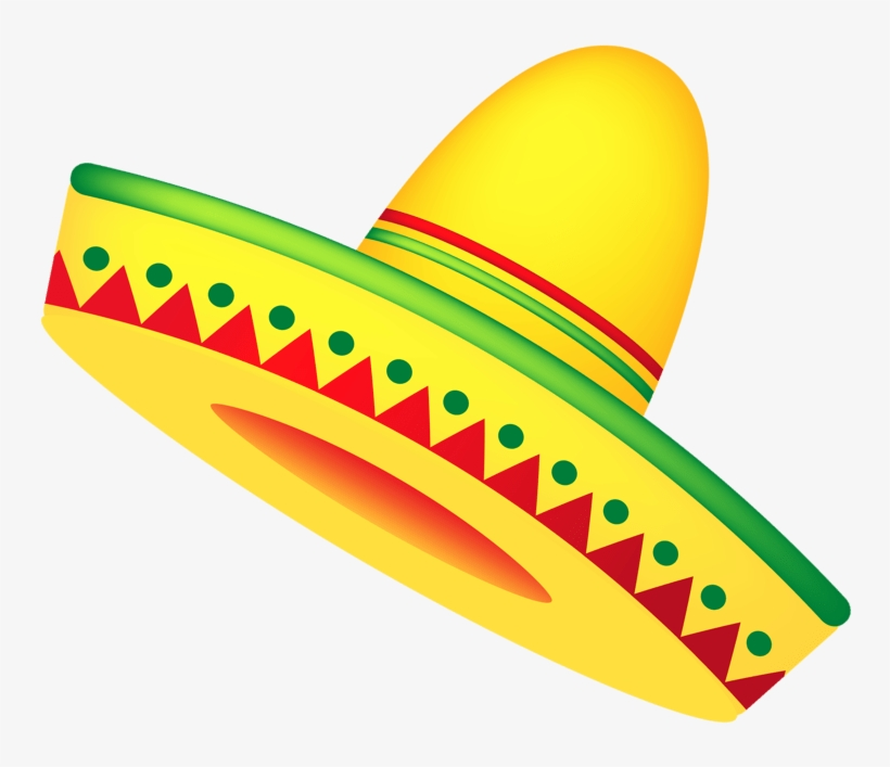 Mexican Hat Clipart PNG Image.