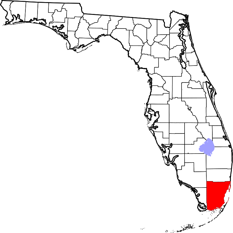File:Map of Florida highlighting Miami.