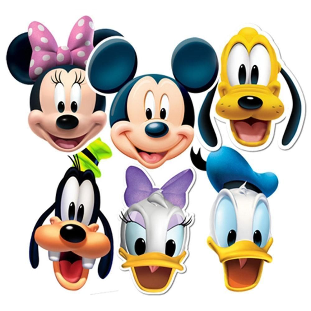Mickey Mouse Clubhouse Characters Faces Clipart Panda Free.