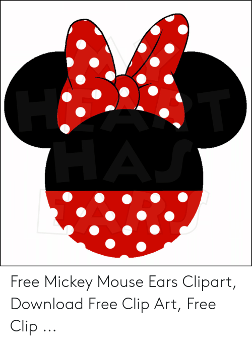 Free Mickey Mouse Ears Clipart Download Free Clip Art Free Clip.