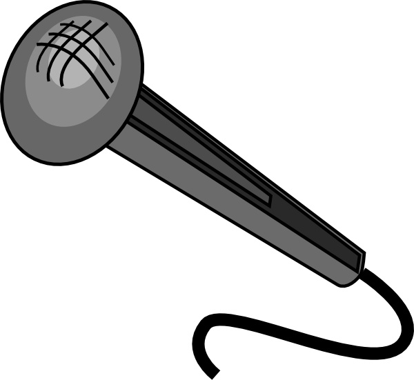 Microphone clip art Free vector in Open office drawing svg ( .svg.