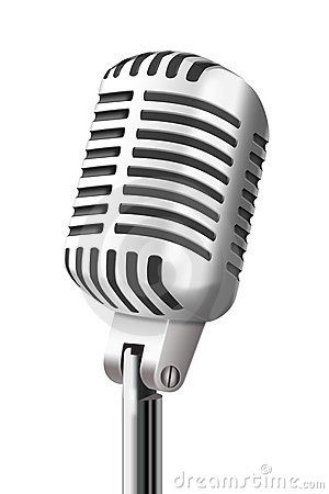 Old Microphone Clipart.