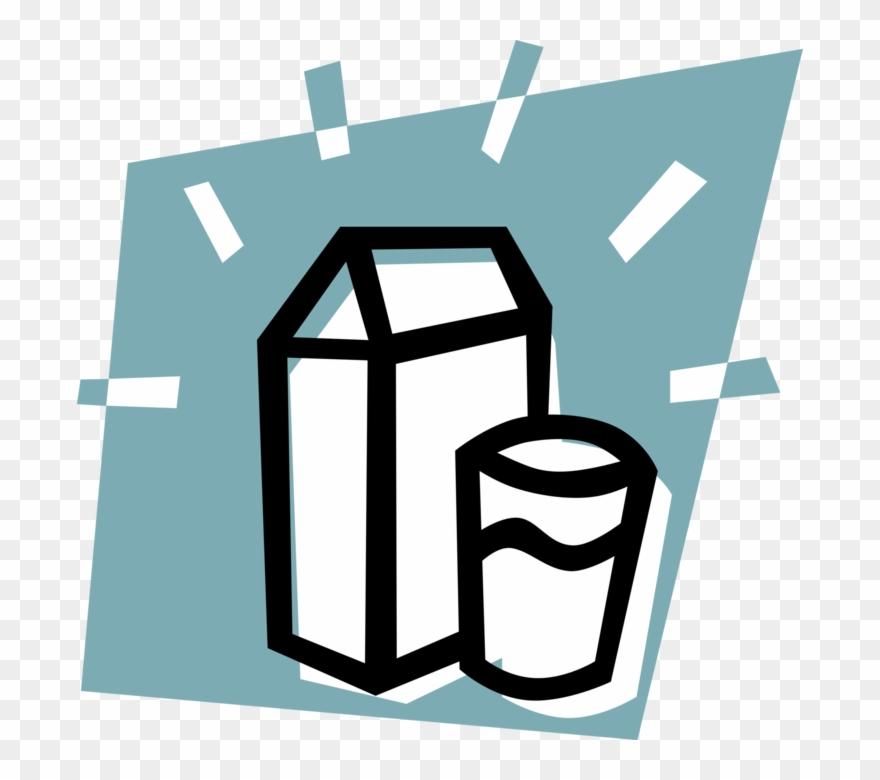 Graphic Free Milk Vector Carton.