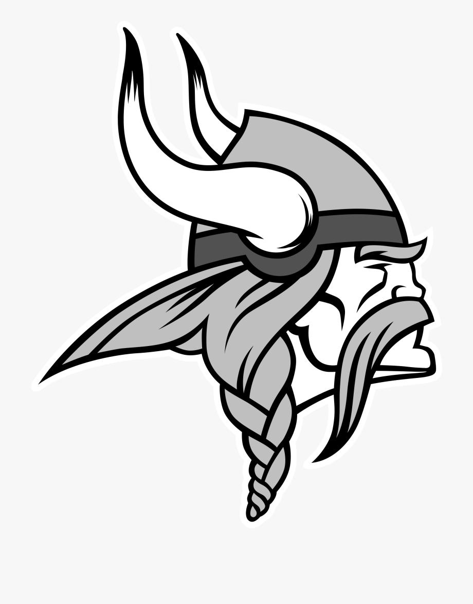 Minnesota Vikings Logo Black And White #468076.