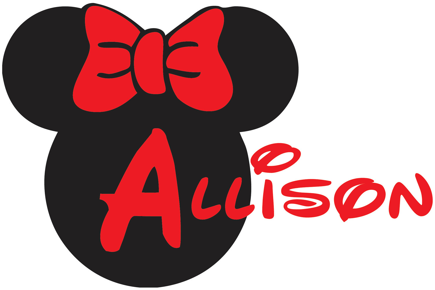 Minnie Mouse Head Outline Clip Art Group (+), HD Clipart.