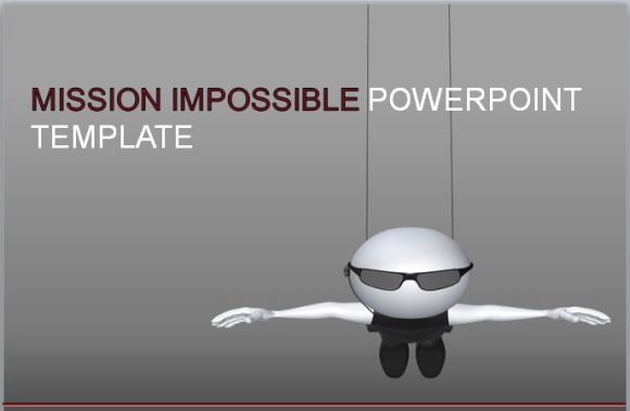 Mission Impossible Animated PowerPoint Template.