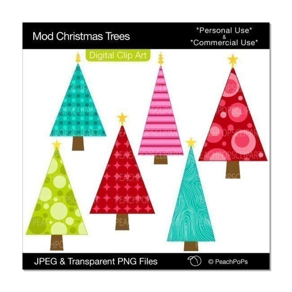 Modern Christmas Tree Clipart free image.