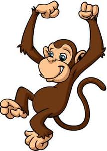 Free Swinging Monkey Clipart.