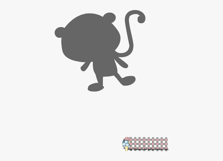 Free Printable Baby Shower Stencils Monkey Ⓒ.