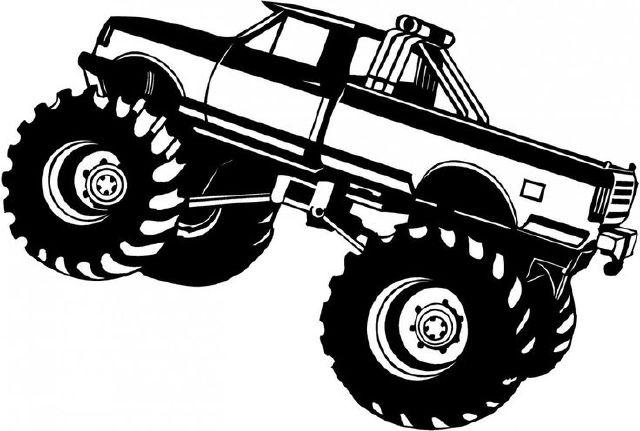 1353 Monster Truck free clipart.