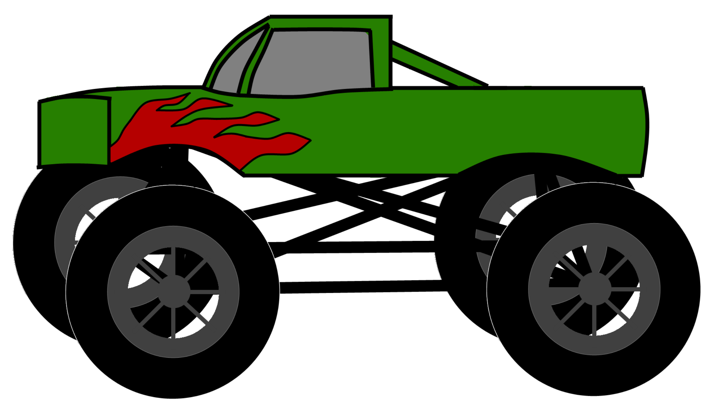 Monster truck clip art pictures free clipart images image.