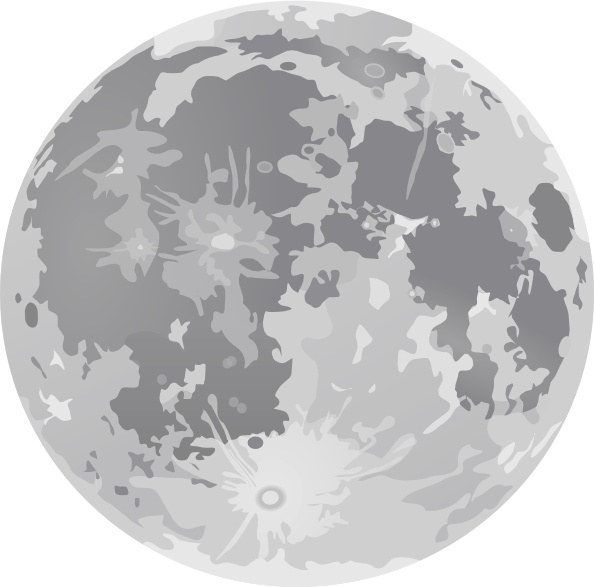 Full Moon clip art Free vector in Open office drawing svg ( .svg.