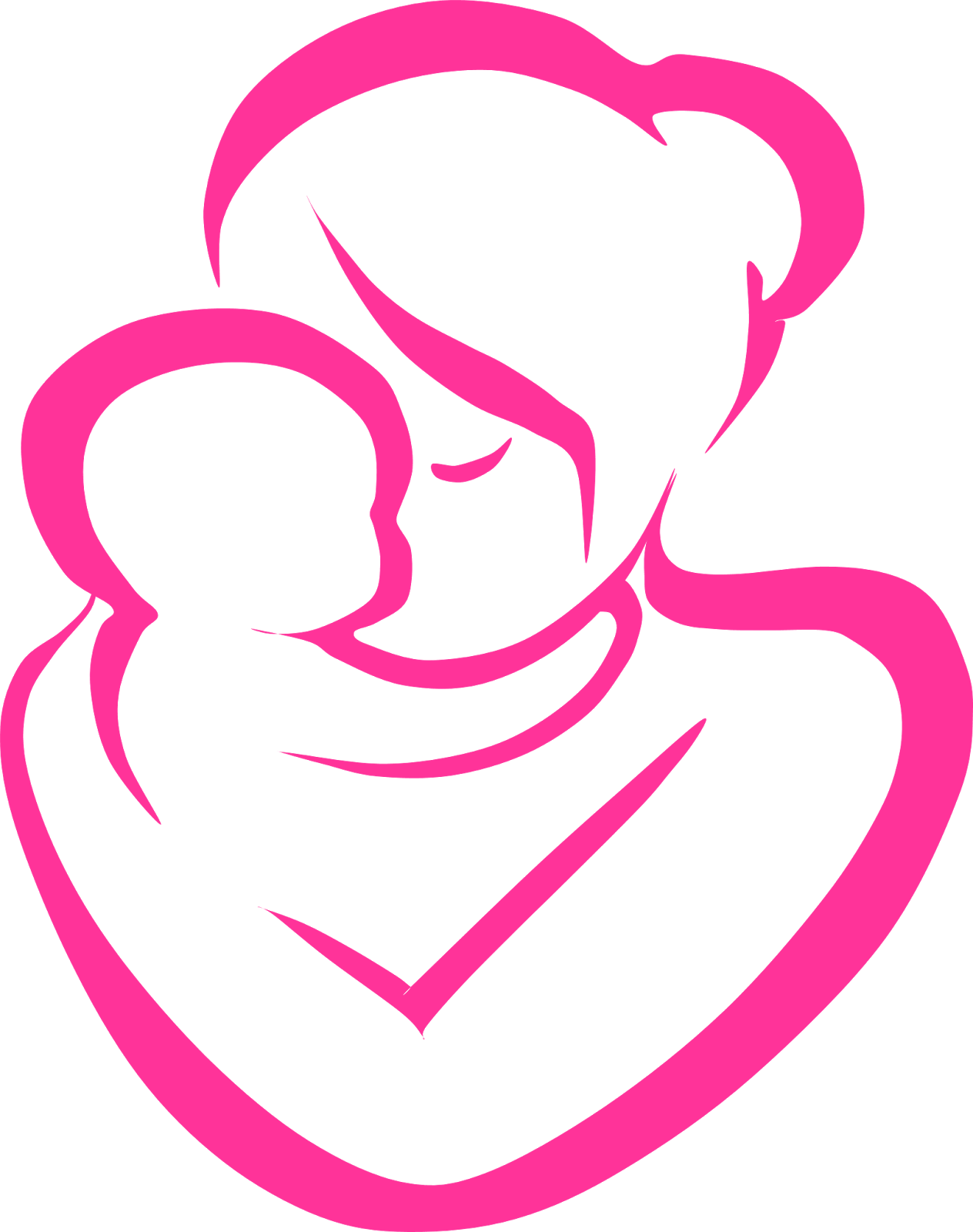 Transparent Background Mom And Baby Clipart.