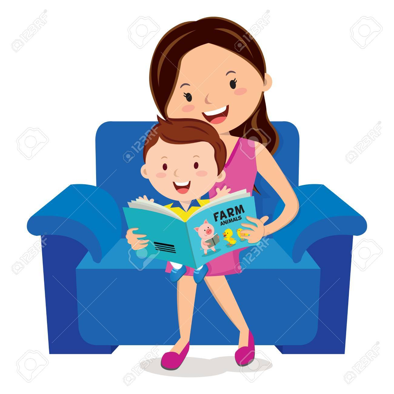 Mother With Child Clipart.