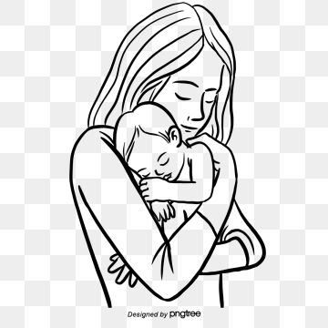 2019 的 Hand Drawn Illustrations Of Mothers And Babies On.