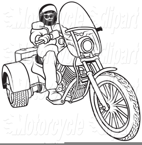 Free Motorcycle Clipart Black And White.